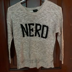 Sweaters - Rue 21 nerd sweater size medium